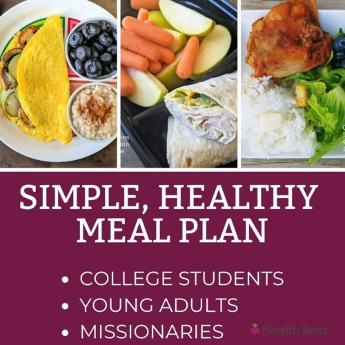 simple and basic healthy meal plan for college age kids