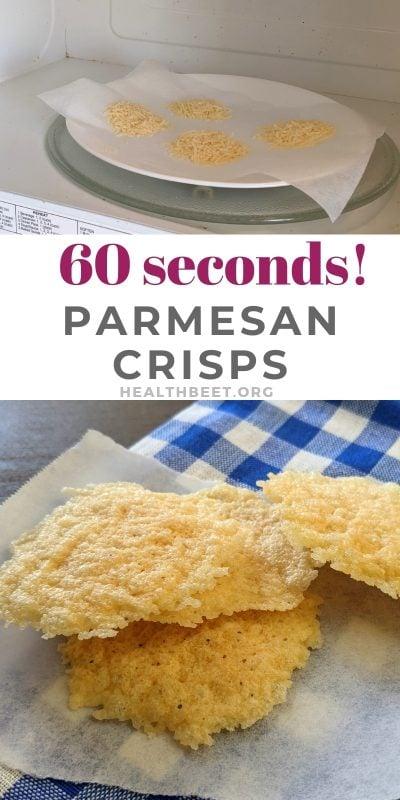 60 seconds parmesan crisps recipes