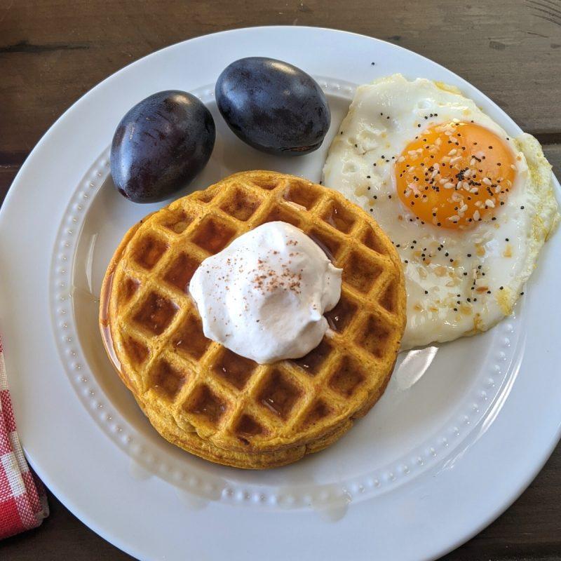 8 grams of protein per waffle pumpkin waffles