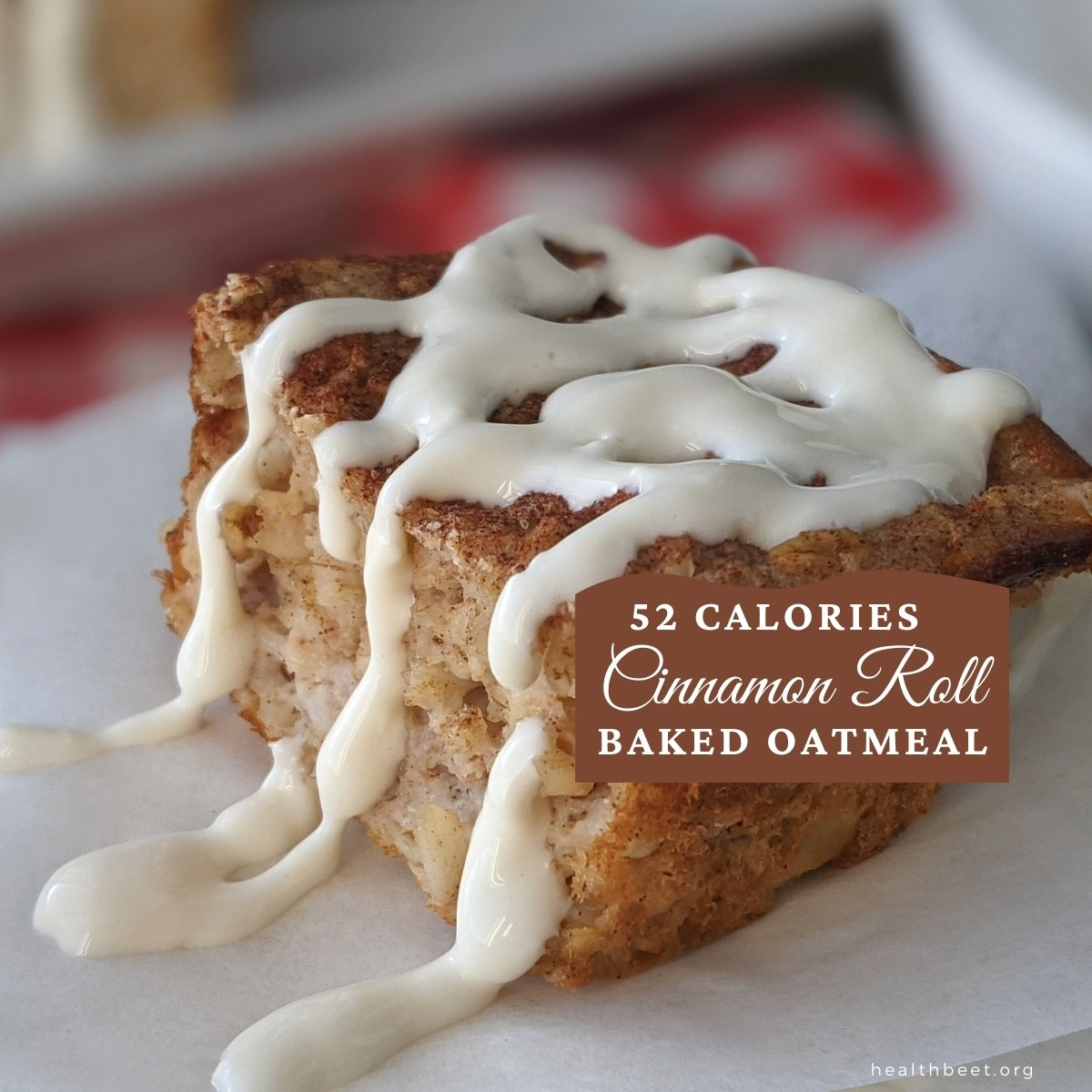 Healthy baked oatmeal cinnamon roll with protein