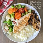 Low calorie chicken and rice bowl