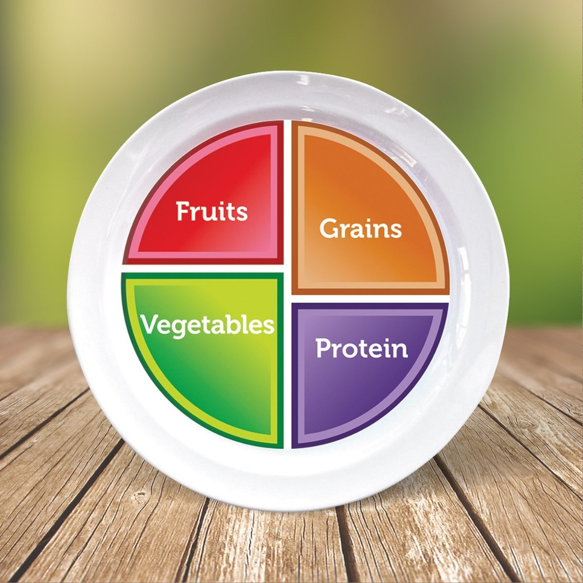 Portion control plate with choose myplate image