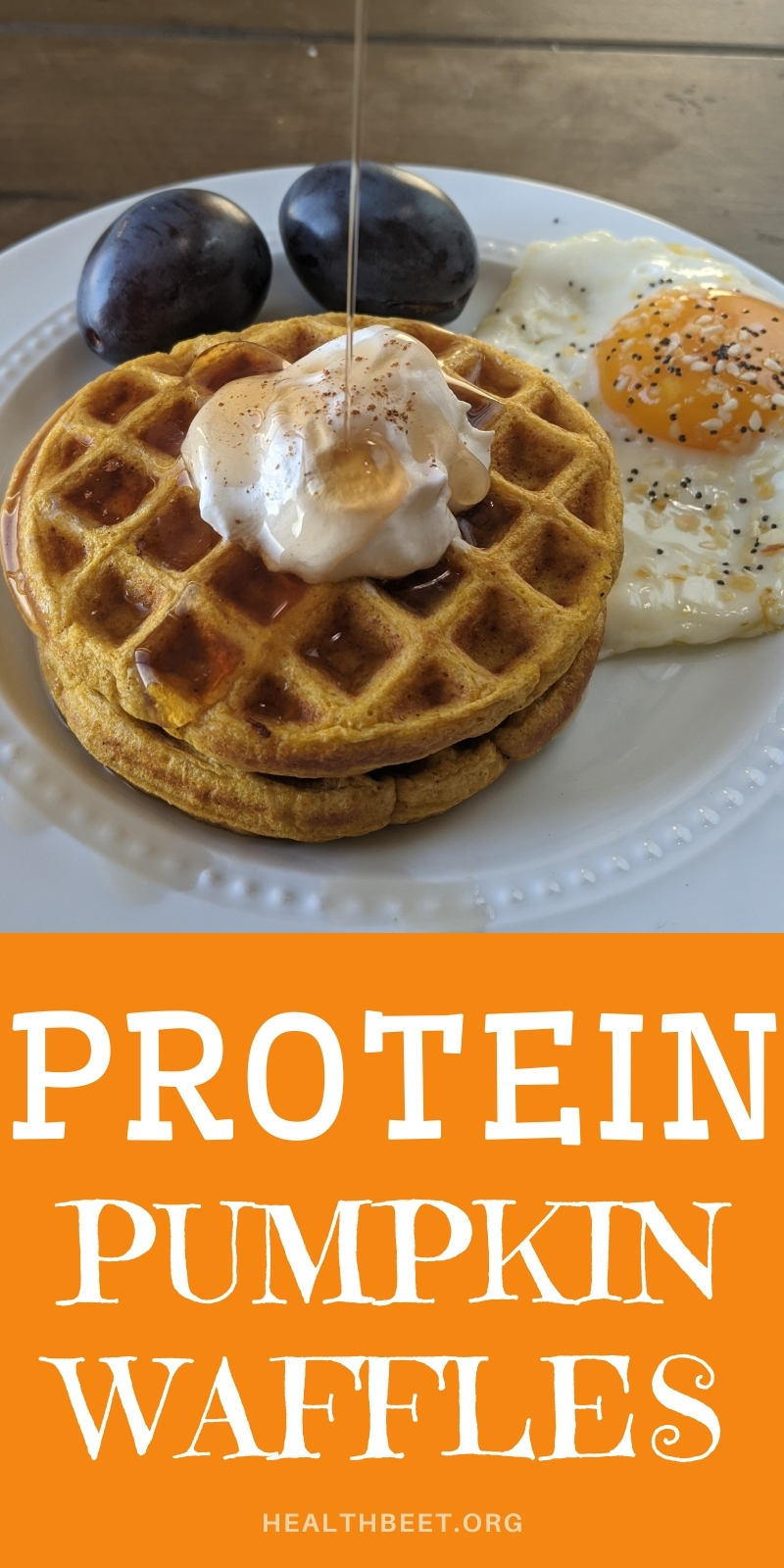 Protein pumpkin waffles low fat low calorie and super delicious
