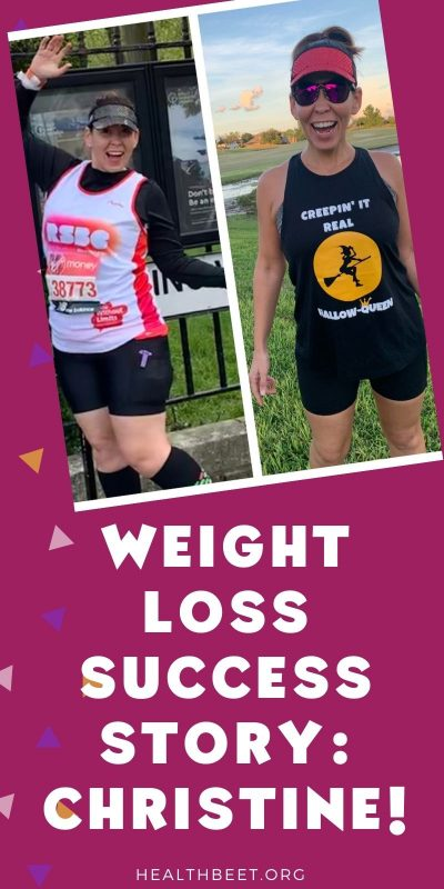 Weight loss success story christine