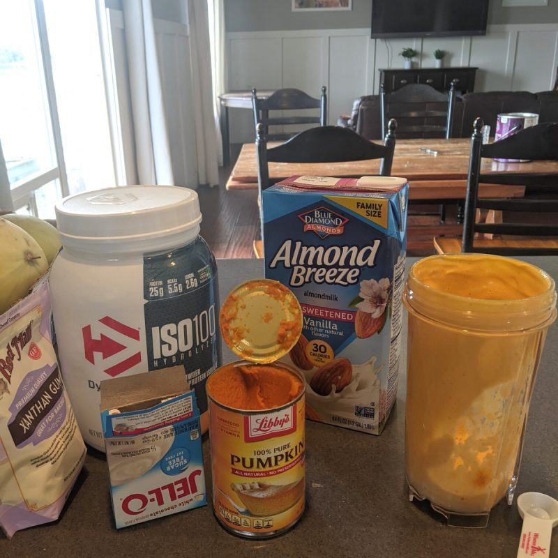 ingredients for protein fluff ice cream sandwiches