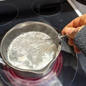 whisking crystal light into caffiene sugar free jello