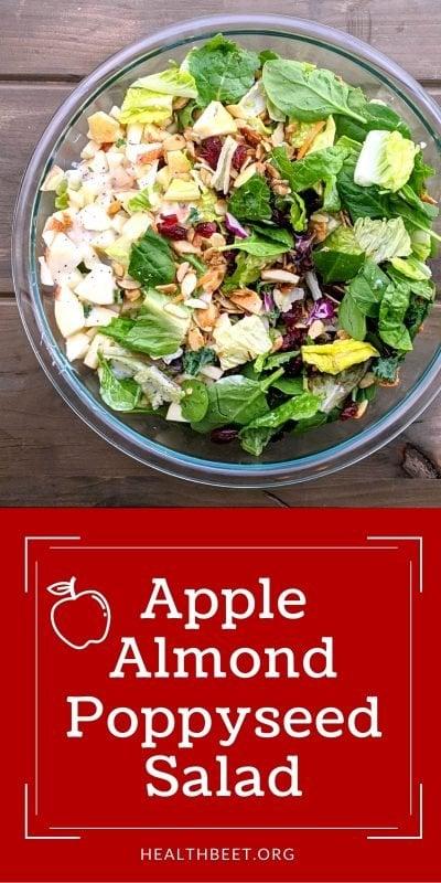 Apple Almond Poppyseed Salad