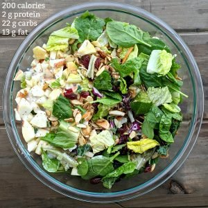 Apple Almond Poppyseed Salad with calories resize