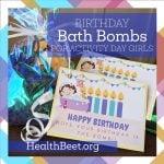 Birthday Bath Bombs {Non-Food Gift Idea for Girls}