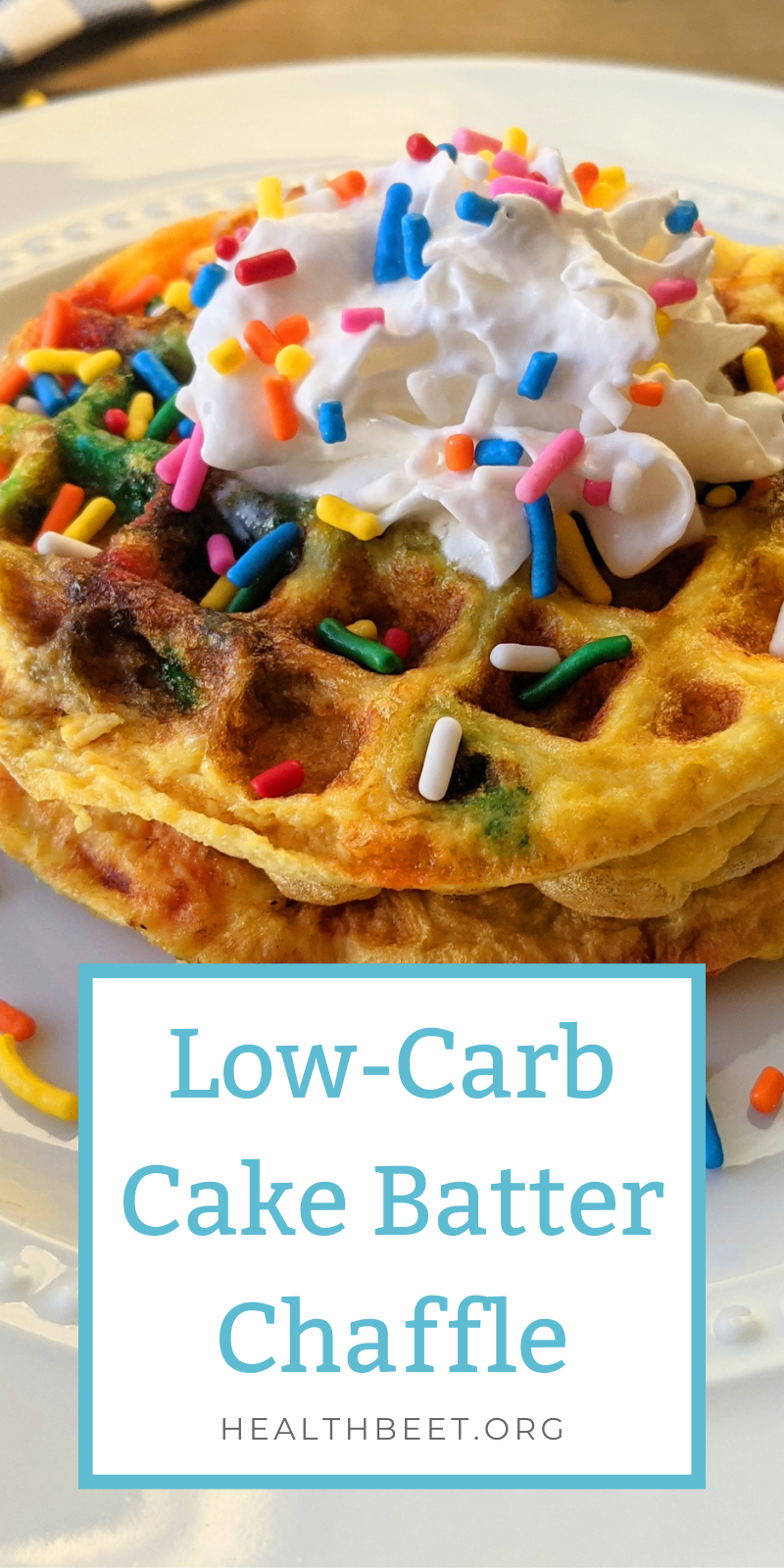 low carb cake batter chaffle