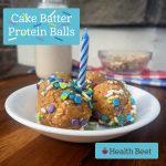 Cake Batter Protein Balls