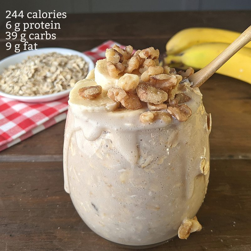 banana bread overnight oats 2 with calories and macros 1200x1200