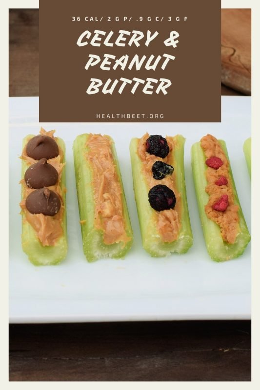 Delicious low carb low calorie snack celery and peanut butter.