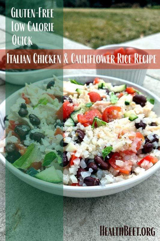 Italian Flag Chicken & Cauliflower Rice Pin 1000x1500