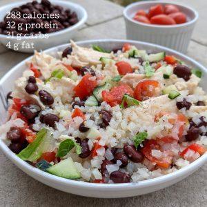 Italian cauliflower rice with calories and macros