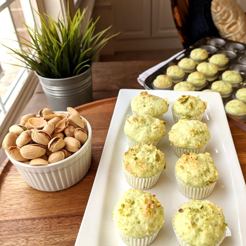 Pistachio Muffins with Plant 1200x1200