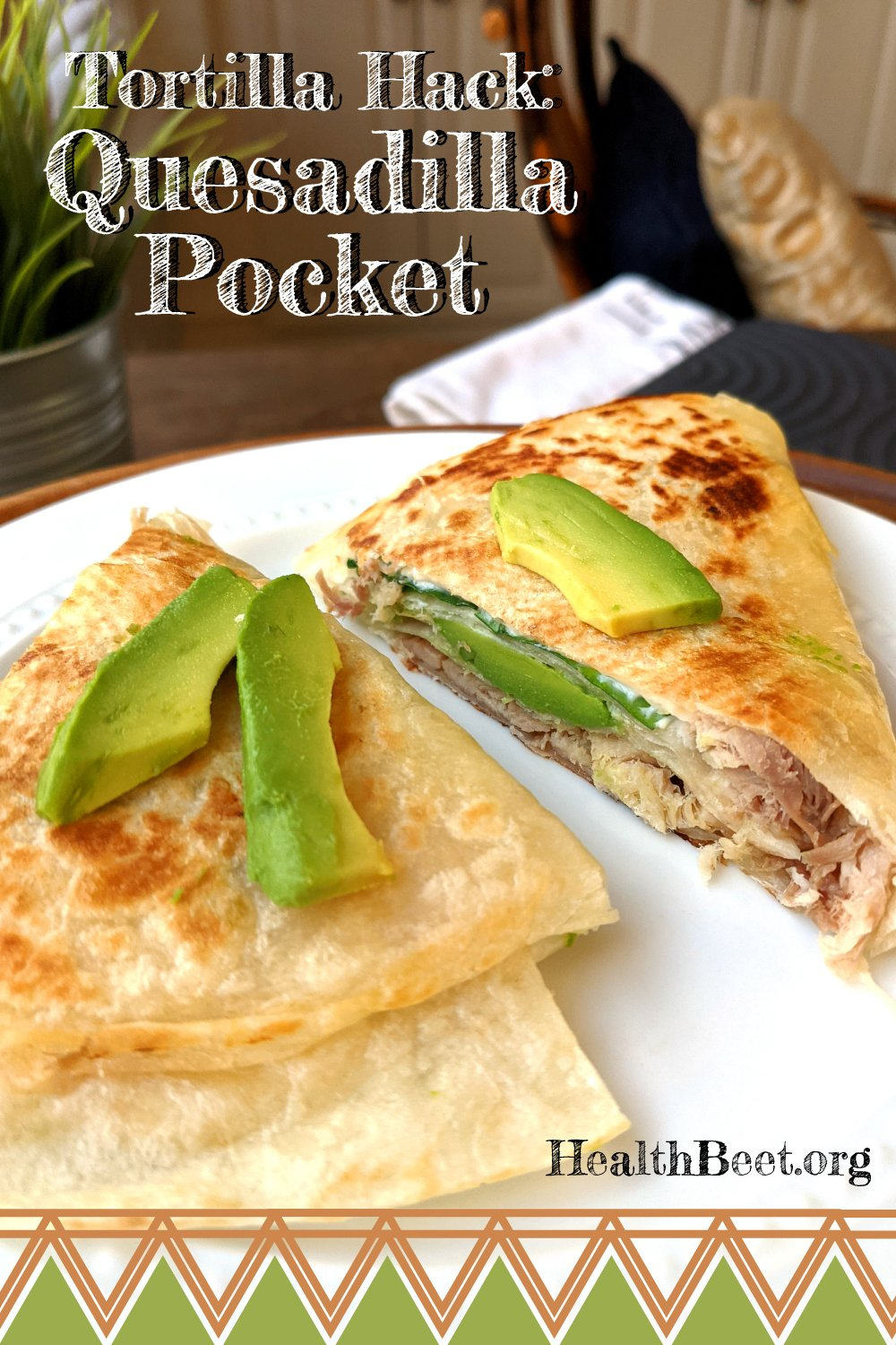 Quesadilla Pocket- The latest food trend from Tiktok Tortilla Hack