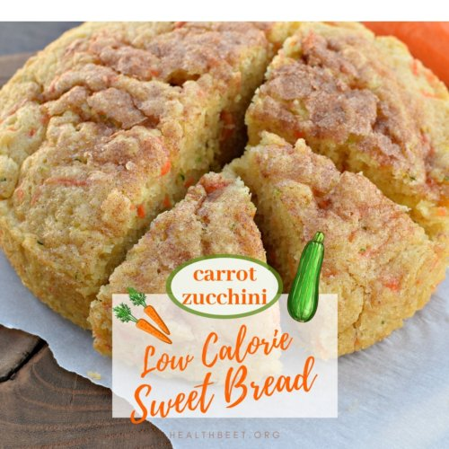 carrot zucchini low calorie sweet bread thumbnail