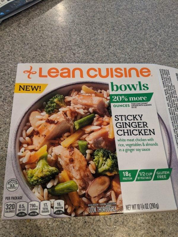 lean cusine sticky ginger chicken bowl