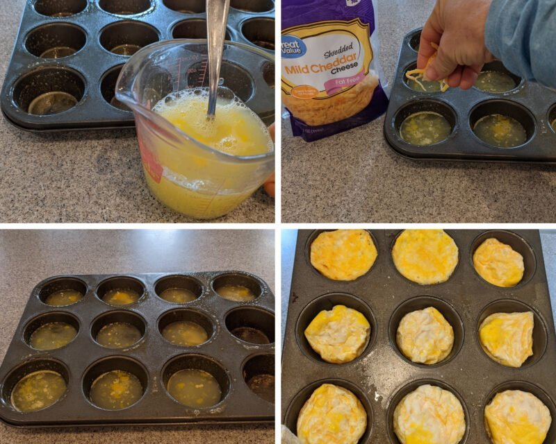 making bagel egg muffins