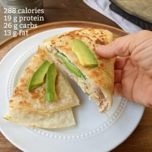 pocket quesadilla with calories and macros