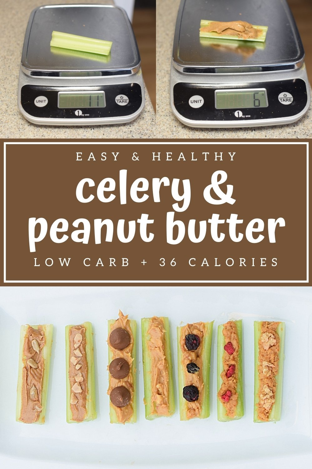 try low calorie low carb celery and peanut butter for an easy and delicious snack idea