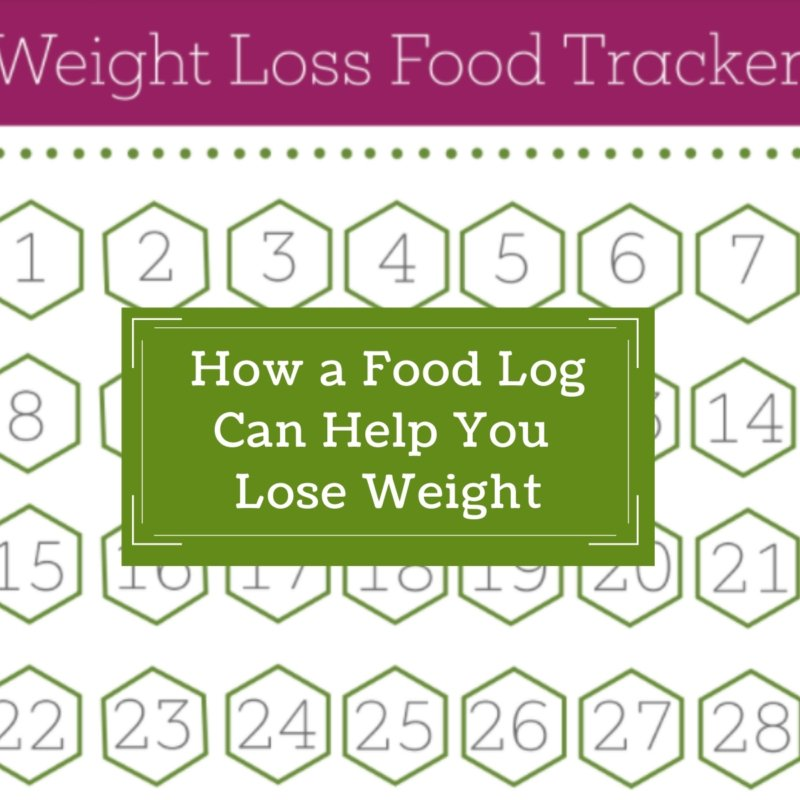 How a food log helps with weight loss