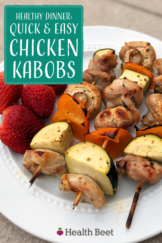 Chicken thigh kabobs made light