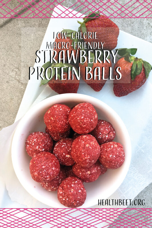 Strawberry Protein Ball Weave Pin 1000x1500