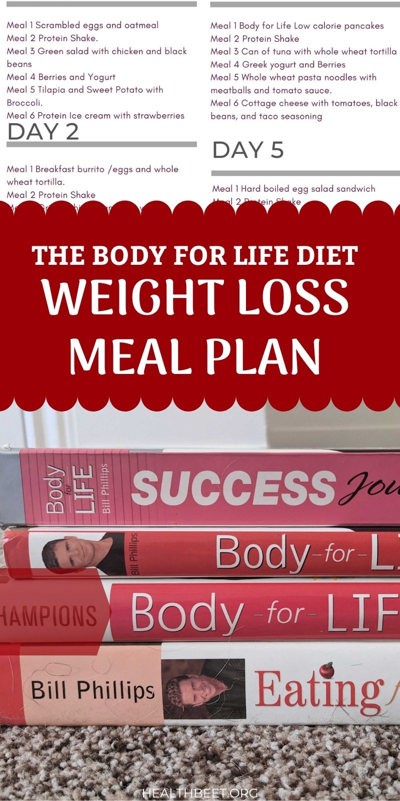 Everything you need to know about the Body for Life Diet, history, program guidelines and a 7 day meal plan