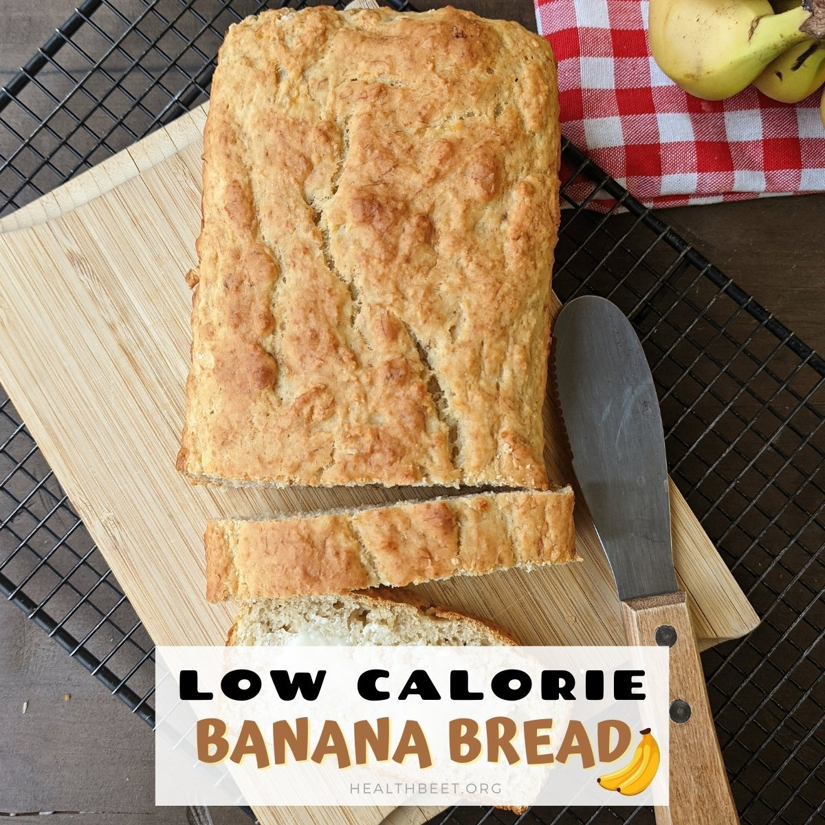 Healthy low calorie banana bread sliced