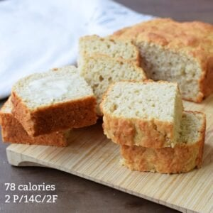 low calorie banana bread with calories and macros