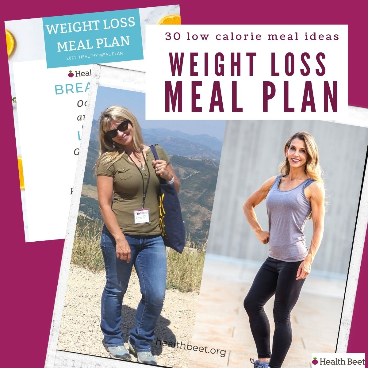 30 Low Calorie Meal Ideas and the Meal Plan Template