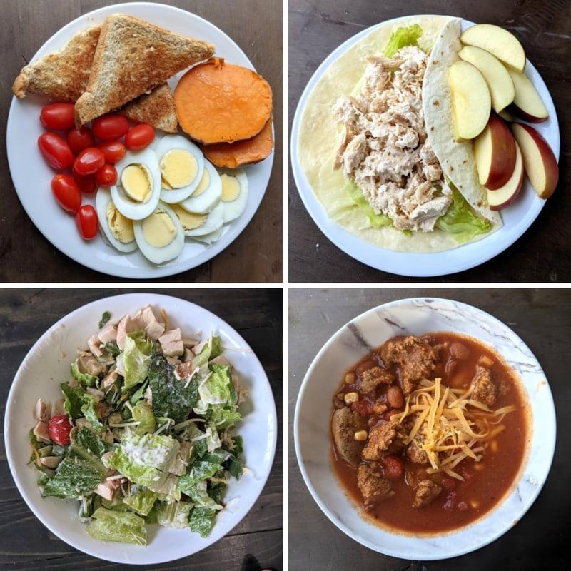 Yemek hazırlığından yapılan 4 öğün kahvaltı ve öğle yemeği