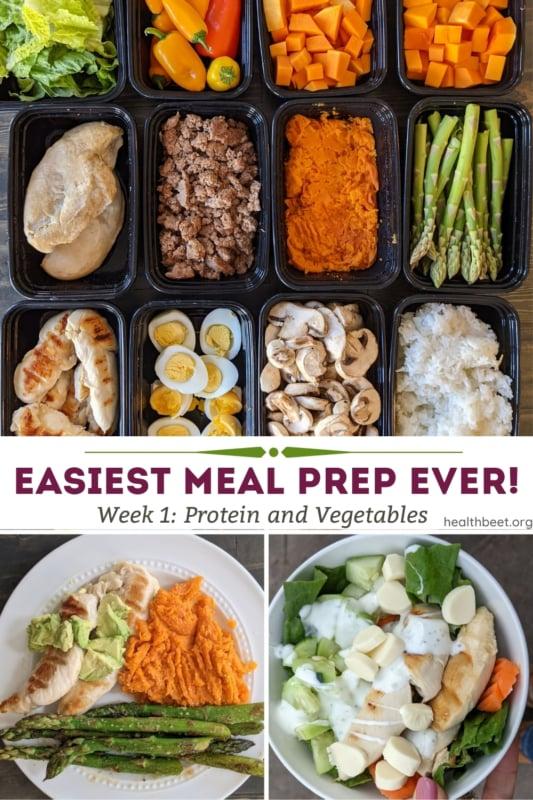 Easiest meal prep ever week 1 protein and vegetables