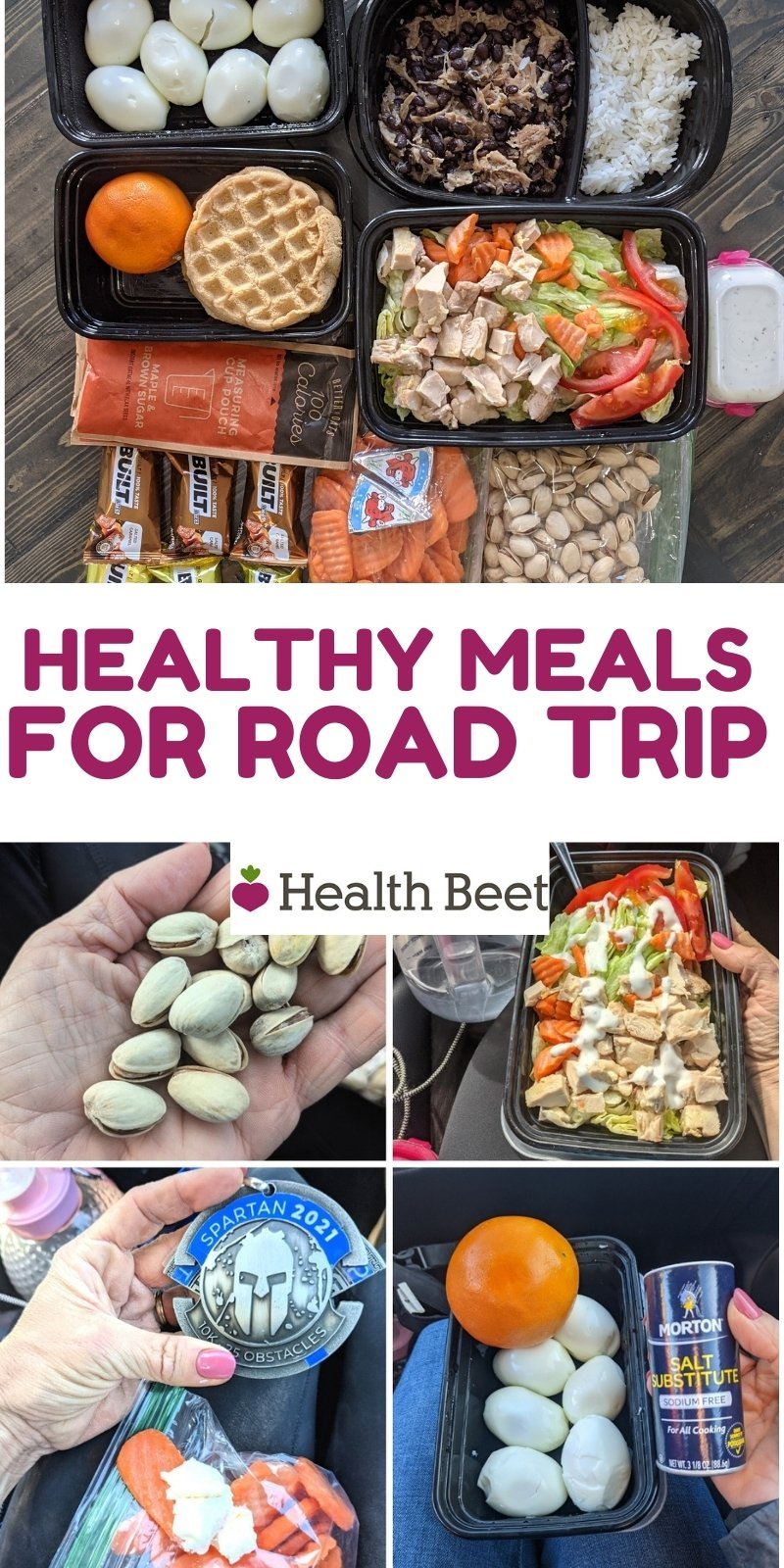 Healthy meals for a road trip