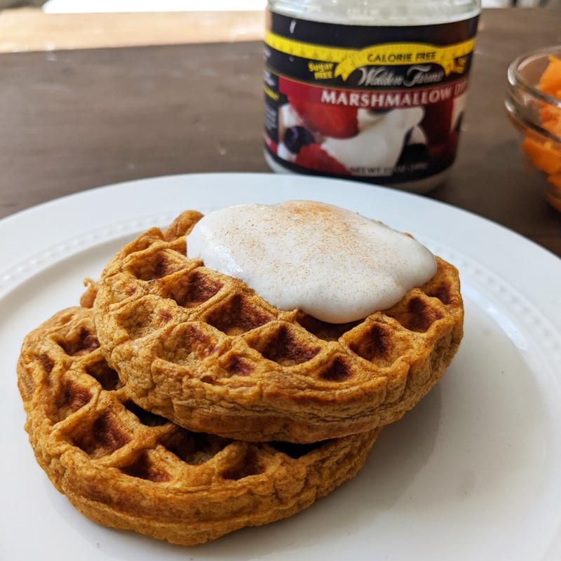 Sweet Potato Waffle Close Up 1200x1200