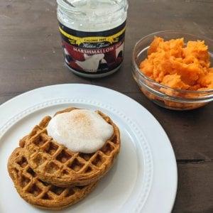 Sweet Potato Waffle with Ingredients 1200x1200