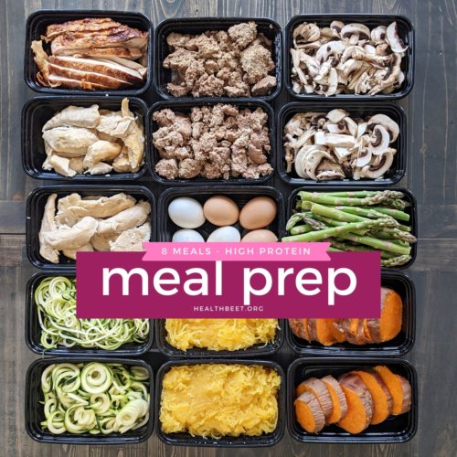 meal prep and food prep for diet meals