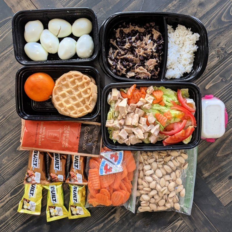 meals prepped for a road trip