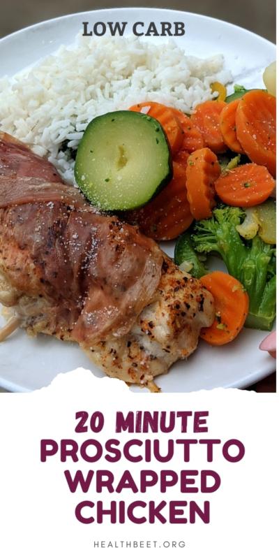20 minute prosciutto wrapped chicken
