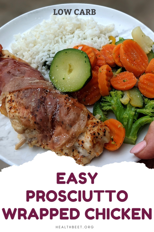 EASY prosciutto wrapped chicken low carb meal idea