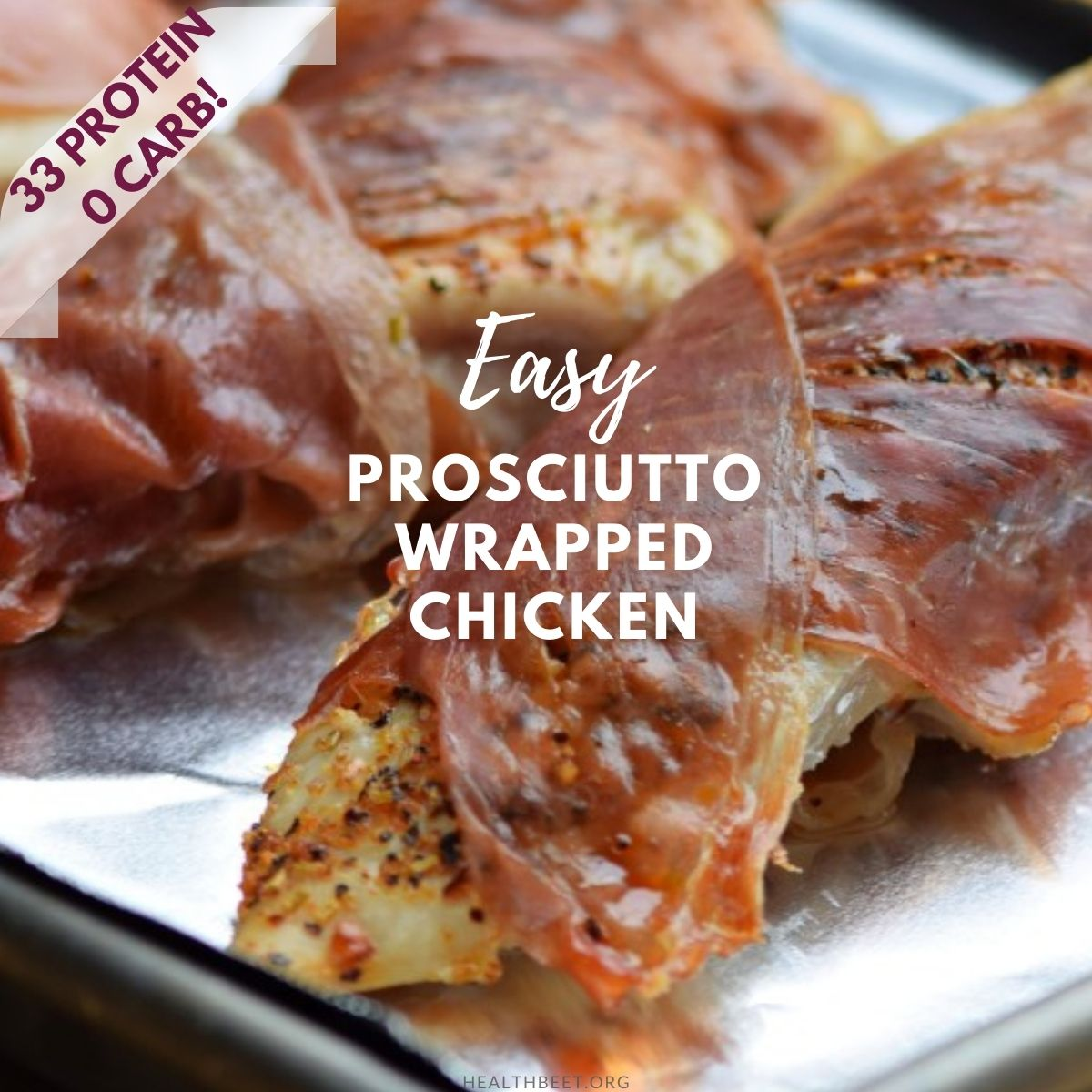Easy prosciutto wrapped chicken thumbnail