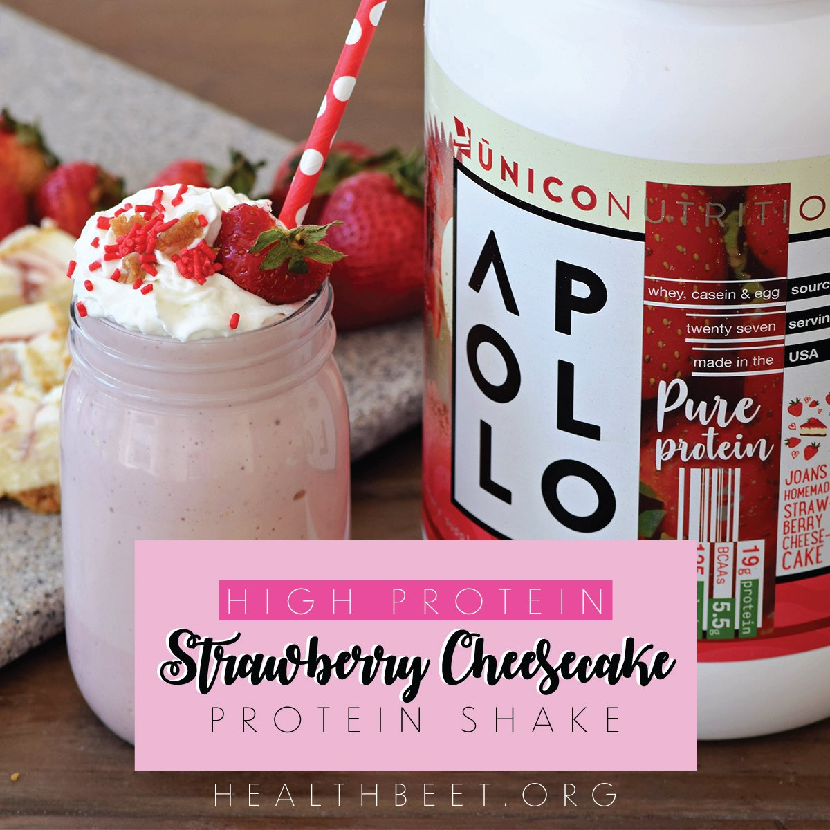 Strawberry Cheesecake Protein ShakeThumb 1200x1200