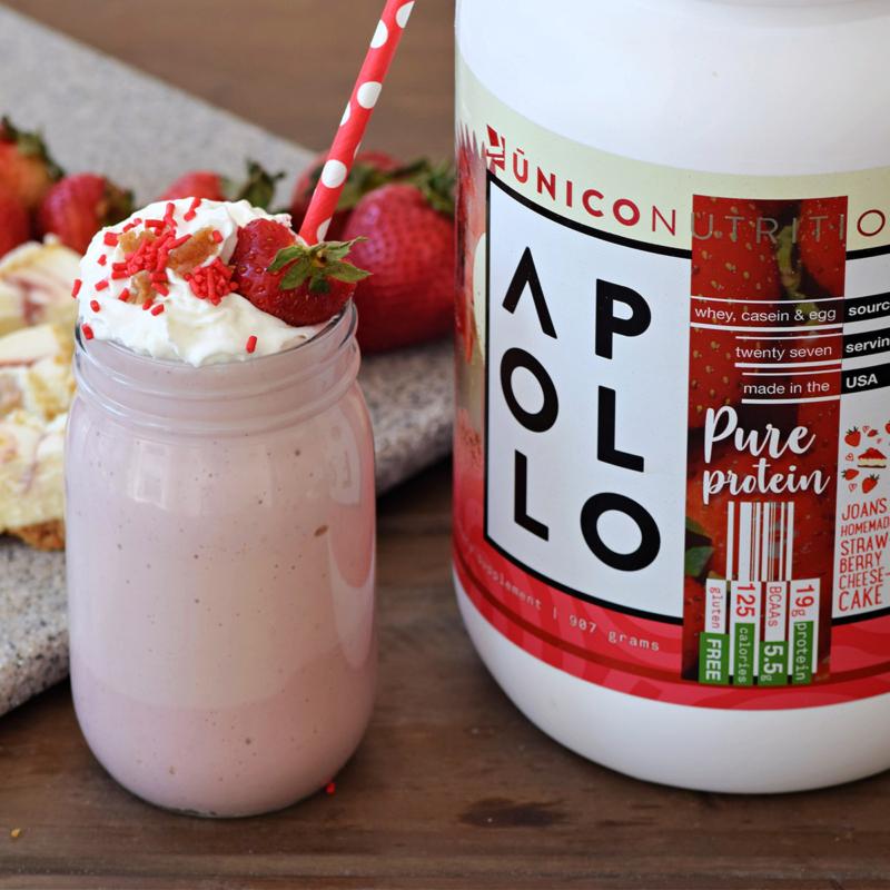 Strawberry Shake with Apollo Protein 1200x1200