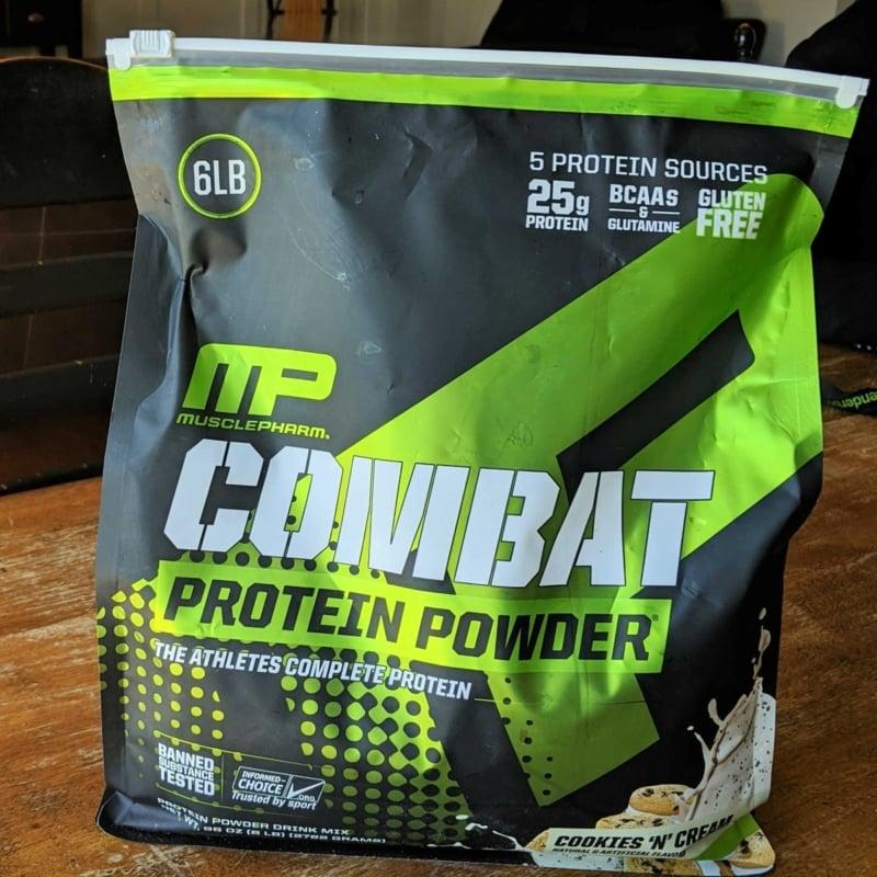 combat protein powder square (Custom)