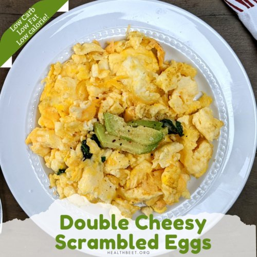 double cheesy low carb scrambled eggs