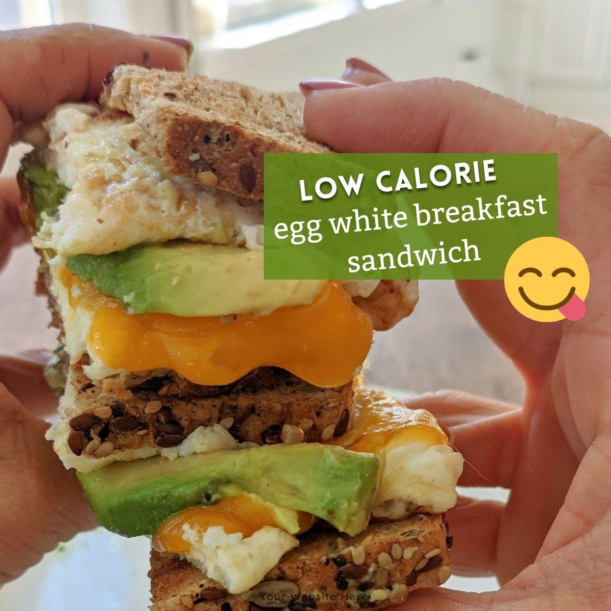 low calorie egg white breakfast sandwich thumb