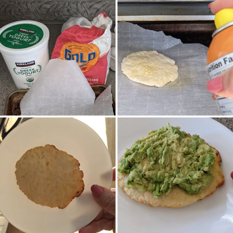 making two ingredient flat bread