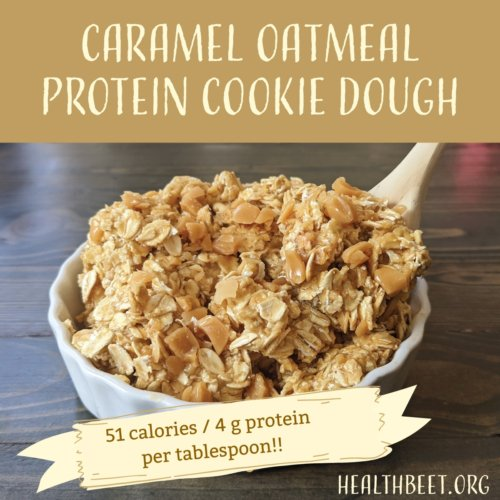 protein cookie dough with 51 calories & 4 g protein per tablespoon